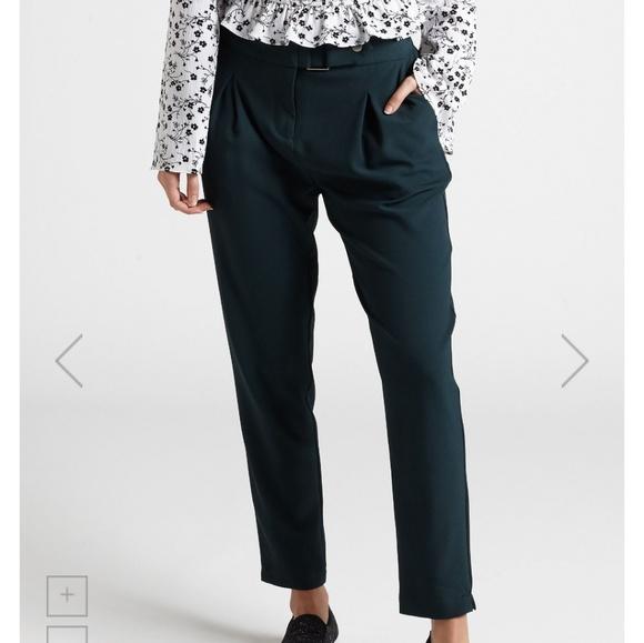 Pants - Retro green tapered pants.